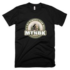 "MTNBK ""All Downhill"" T-Shirt - Black, available on www.MTNBK.com"