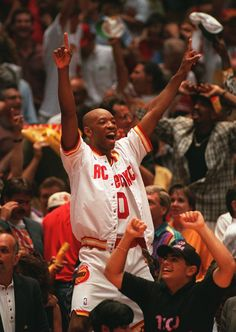 Sam Cassell celebrating. For all the latest Houston Rockets news & updates, visit www.rockets.com.