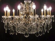STUNNING FRENCH GOLD & CRYSTAL MASSIVE CHANDELIER ~~~~~~~~~~~~~~~~~~~~~~~~~~~~~~~~ Pictu