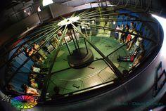 Dreamworld's modified gravitron. The operator watches from above. Goldcoast, Australia. - Amusement Ride Extravaganza