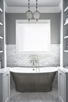 White Bathroom Decor, Grey Bathrooms, Beautiful Bathrooms, Bathroom Interior, Modern Bathroom, Small Bathroom, Gray Interior, Bathroom Marble, Master Bathroom