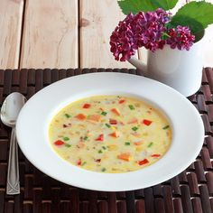 Sweet Potato Corn Chowder from daringgourmet.  Another cool-weather soup waiting for, you guessed it:  cool weather.