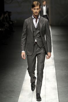 the right amount of formal with the vest and jacket, but no tie lends it a wonderful casual vibe.