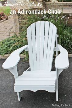 Free & Simple Diy Tutorial! How To Make An Adirondack Chair – The Easy Way!