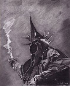 The Witch King of Angmar Hobbit Art, The Hobbit, King Tattoos, Nerd Tattoos, Witch King Of Angmar, Lord Of The Rings Tattoo, Lotr Trilogy, Drawing Sketches, Drawings