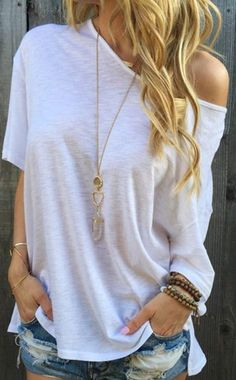 Trendy Sexy White Off Shoulder Top Women Jr Extra Large Shirt | eBay