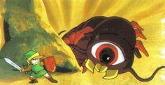 The Legend of Zelda original art (Famicom, 1986).