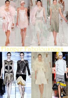 It's no surprise with the Great Gatsby remake coming out this year that the 1920's roared onto the runway. We're loving designers' use of drop-waist skirts, flapper fringes and feathers!