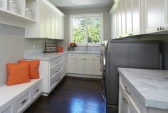 Love this laundry/mud room.            Transitional Laundry Room by Fautt Homes