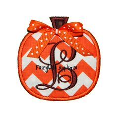 Digital Machine Embroidery Design  Pumpkin 2 by FairytaleApplique, $3.99