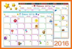 Calendario Multicolor 2016