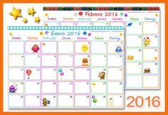 Calendario Multicolor 2016