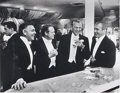 Slim Aarons, The Four Kings of Hollywood (Clark Gable, Van Heflin, Gary Cooper and Jimmy Stewart), 1957