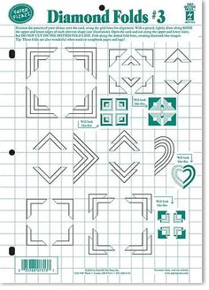 Dinglefoot's Scrapbooking - Diamond Folds #3 Template $4.99 http://www.dinglefoot.com/diamond-folds-3-template-hot-off-the-press/