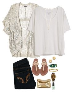 """""""Date night"""" by madirileyyy ❤ liked on Polyvore featuring Fine Collection, Hollister Co., Tory Burch, Eddie Borgo, Michael Kors, Cartier and OPI"""