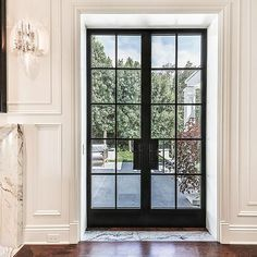 Thermal Aluminum French Door - Steel Look from Arcadia Custom The Effective Pictures We Offer You About french doors entrance A quality picture can tell you many things. Steel Frame Doors, Exterior Doors, Classic Doors, French Doors Exterior, Aluminium Doors, Steel Doors Exterior, Aluminium French Doors
