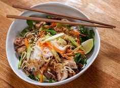 NYT Cooking: Cold Rice Noodles With Grilled Chicken and Peanut Sauce