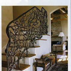 If you need the perfect railing to accent your stairs and interior design, CustomMade artisans can make it for you within your budget. Wrought iron, wood & more.