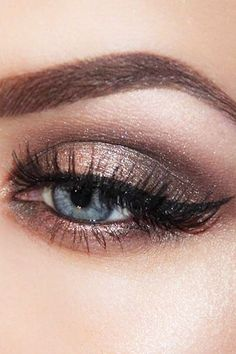 30 Wedding Make Up Ideas For Stylish Brides ❤️ We've created collection of wedding makeup. There are ideas for unique make up, elegant, make up that will be appropriate for different eyes' colours. See more: http://www.weddingforward.com/wedding-makeup/
