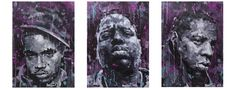 NEW YORK TRIPTIC, Acrylic on canvas, 3x 50x70