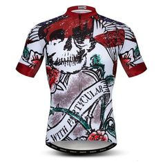 4cc78c646 Rose Skull Short Sleeves Jersey. Cycling TopsCycling ...