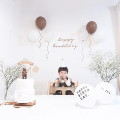 Baby Birthday Decorations, Baby Boy 1st Birthday Party, 2nd Birthday Party Themes, Baby Birthday Cakes, Baby Party, First Birthday Parties, Birthday Girl Pictures, Birthday Photos, Gras