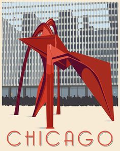 Artist Signed Chicago Poster by Steve Thomas Chicago Poster, Chicago Art, Chicago Tattoo, Solar System Poster, Steve Thomas, Spoke Art, Star Wars Prints, Pop Culture Art, Vintage Art Prints