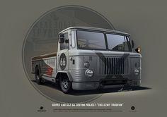 """ArtStation - GAZ-66 custom project """"Zhelezniy trudovik"""", Andrey Tkachenko"""