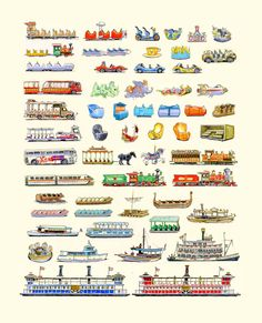 Illustrations of every Disney ride