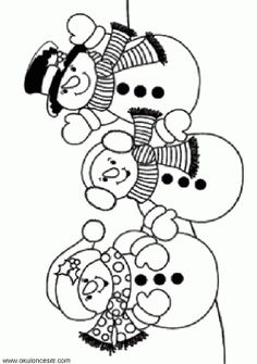 29 Best Snowman Coloring Page Images In 2019