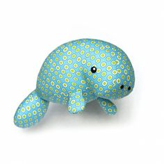 Manatee / sea cow soft toy sewing pattern PDF - Other - Sewing Patterns - Quality from Amsterdam, Netherlands by DIY Fluffies sewing and crochet amigurumi patterns Sewing Stuffed Animals, Cute Stuffed Animals, Stuffed Animal Patterns, Dinosaur Stuffed Animal, Sewing Toys, Sewing Crafts, Sewing Projects, Softie Pattern, Cute Pattern