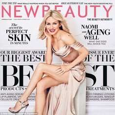 Cover girl: Naomi Watts appeared on the cover of New Beauty magazine's Spring Summer 2016 edition