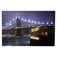 Skyline Bridge LED Canvas Art.Opens in a new window