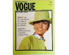 Vintage Vogue Pattern Book Magazine Spring February March 1968 (U. Motif Vintage, Vintage Patterns, Collection Couture, Vogue Patterns, Young Fashion, Magazine, Pattern Books, Pattern Making, Printing On Fabric