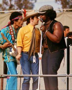 Jimi with Eric Burdon and Buddy Miles Newport pop festival june 22, 1969