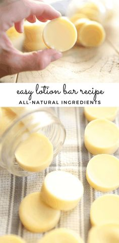 Learn how to make the easiest homemade lotion bars with essential oils. These bars are perfect for everyone in the family and make a perfect handmade gift. #diy #lotionbars #homemadelotion #diymoisturizer