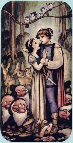 Vintage Fairy Tale Art | Disney classic snow white