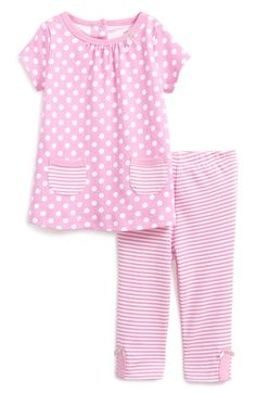 Offspring 'Dot' Tunic & Leggings (Baby Girls) available at #Nordstrom