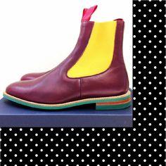 COMME des GARCONS JUNYA WATANABE MAN x Tricker s_Purple Side-Gore Boots_size UK9