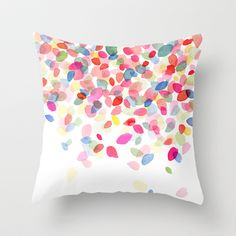 Society 6... awesome art, pillow covers etc.... Watercolor Colorful Dots Falling Throw Pillow by Yao Cheng Design - $20.00
