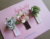 set of 3 baby girl hair clips