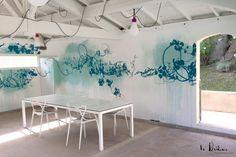 Décoration murale pour le pool House d'un particulier à Aix-en-Provence