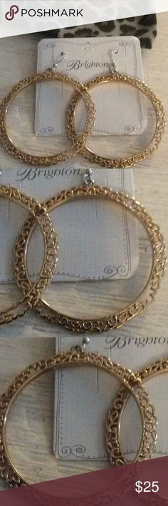 💕 Brighton earrings 💕 Gorgeous gold Brighton earrings, definitely a statement piece of jewelry 🌸 Brighton Jewelry Earrings