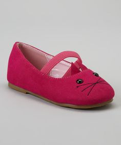 Loving this Fuchsia Kitten Cupcake Flat on #zulily! #zulilyfinds