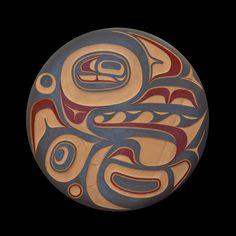 "Killerwhale Panel (36"" round) - Kyran Yeomans (Haida)"