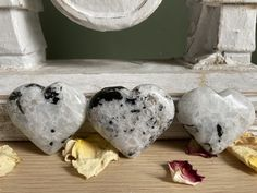 Excited to share this item from my shop: Moonstone Hearts Waxing And Waning, Feminine Energy, Handmade Items, Handmade Gifts, Hearts, Etsy Shop, Crystals, Unique Jewelry, Vintage