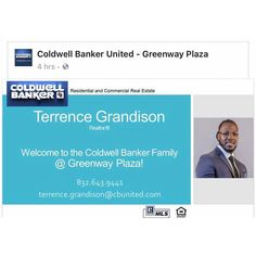 Excited to announce a new member on the Team - @hometeamterry #coldwellbankerunited