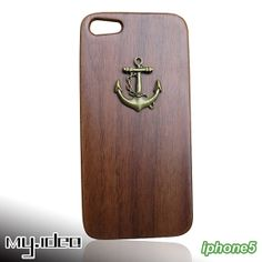 SALE30OFF mymade natural wood iphone 5 case Anchor by mymade1, $22.50