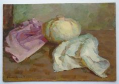 ORIGINAL OIL HANDMADE PAINTING  ONE OF A KIND  VINTAGE STILL LIFE  This amazing oil still life is an original artwork by by a very talented listed artist Ukrainian artist Bespruzhnaya L.  Bespruzhnaya Ludmila was born on November 14, 1937 in Lugansk. She started to draw when she was only 8 years old. Being a school girl she attended an art studio and in 1951 took part in republican exhibition of the art of children, which was held in Kiev. Next year her paintings were presented at the VII…