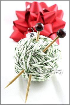 Yarn Ball Ornament Christmas Tree Gift Idea by PhoenixFireDesigns
